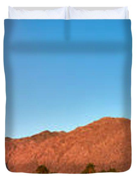 Palm Springs Sunrise Duvet Cover