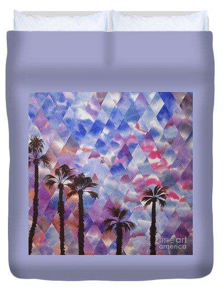Palm Springs Sunset Duvet Cover by Jeni Bate