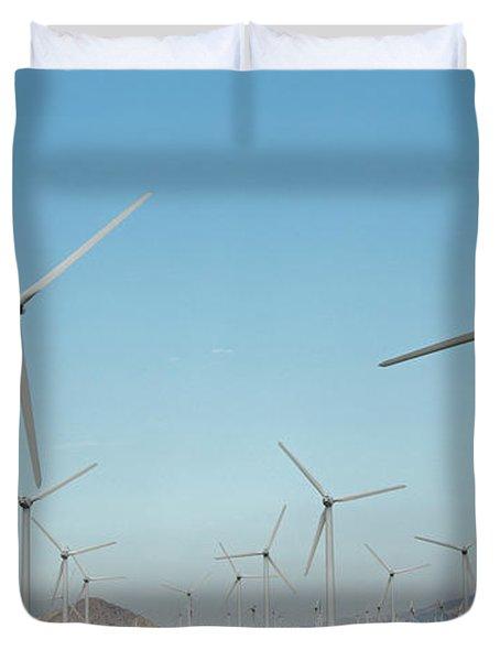 Palm Springs Windfarm Duvet Cover