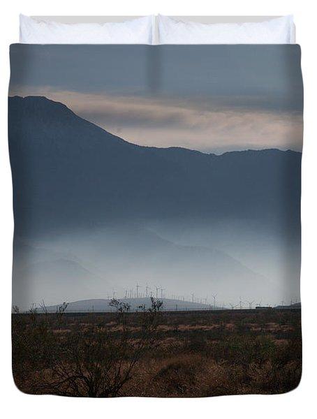 Palm Springs Windmills Duvet Cover