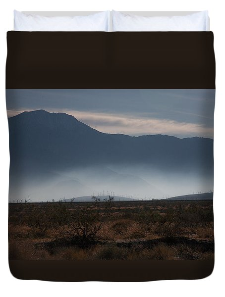 Palm Springs Windmills Duvet Cover by Matthew Bamberg