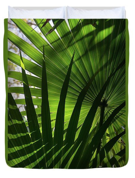 Palm Study 1 Duvet Cover