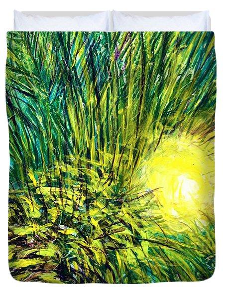 Palm Sunburst  Duvet Cover