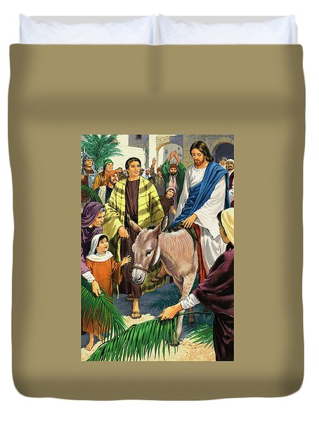 Palm Sunday Duvet Cover by Clive Uptton