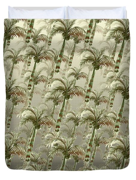 Palm Tree Grove Duvet Cover