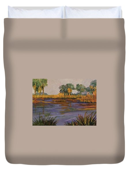 Palm Tree Hideaway  Duvet Cover