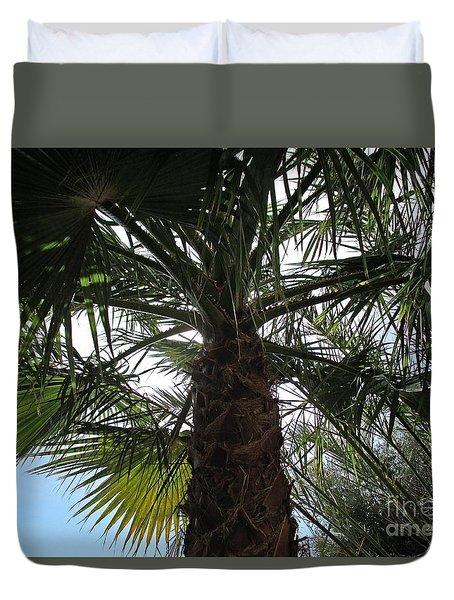 Palm Tree In Almunecar Duvet Cover