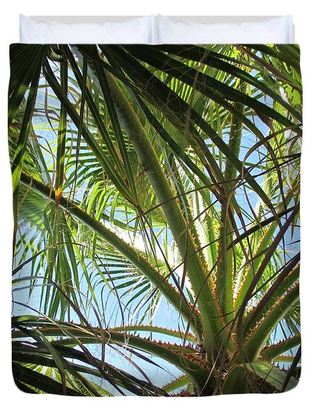 Palm Tree In Fuengirola Duvet Cover