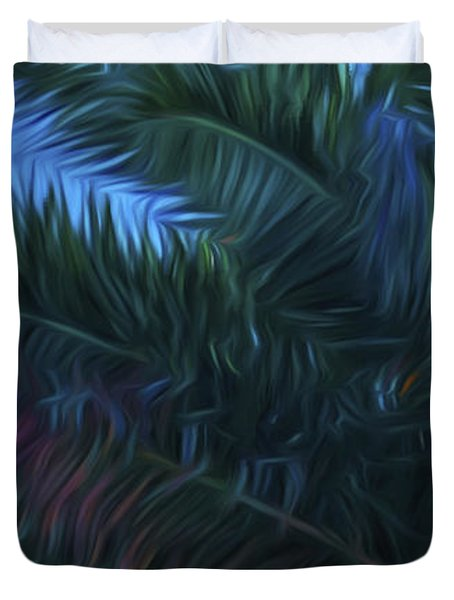 Palm Tree In The Sun Duvet Cover