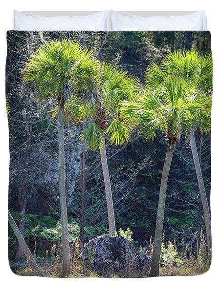 Palm Tree Island Duvet Cover