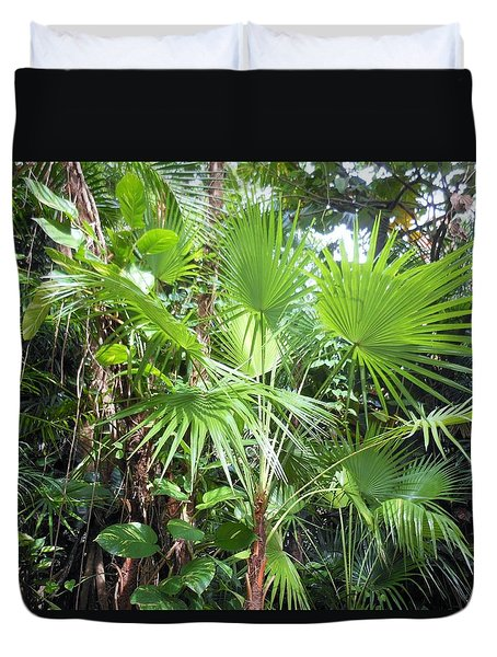 Palm Tree Duvet Cover by Kay Gilley