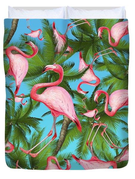 Palm Tree Duvet Cover by Mark Ashkenazi