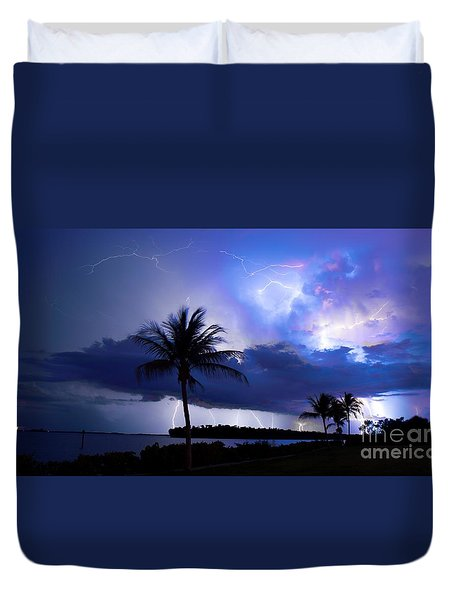 Palm Tree Nights Duvet Cover