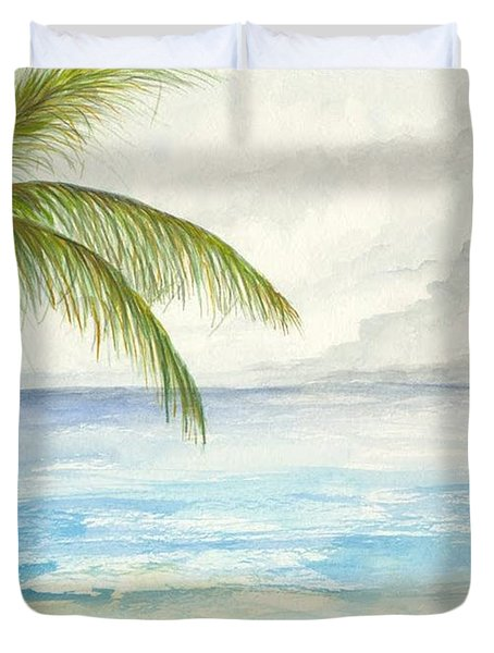 Palm Tree Study Duvet Cover