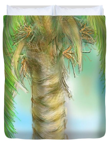 Palm Tree Study Two Duvet Cover
