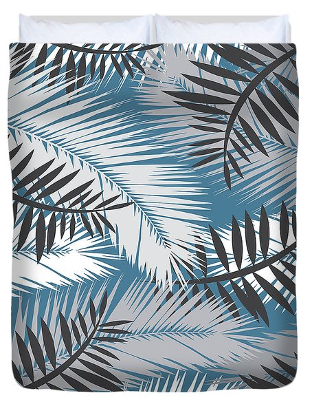 Palm Trees 10 Duvet Cover by Mark Ashkenazi