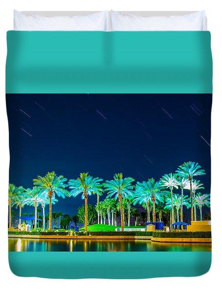 palm Trees Duvet Cover by Hyuntae Kim