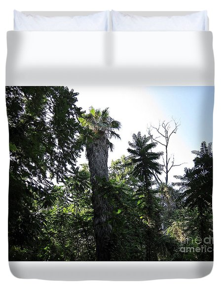 Palm Trees And Wilderness In Torremolinos Duvet Cover