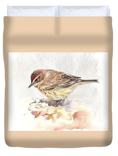 Palm Warbler Duvet Cover