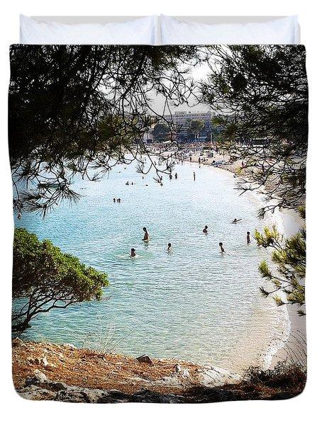Palmanova Beach Duvet Cover