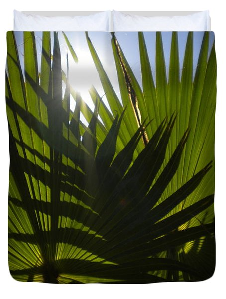 Duvet Cover featuring the photograph Palmetto 3 by Renate Nadi Wesley