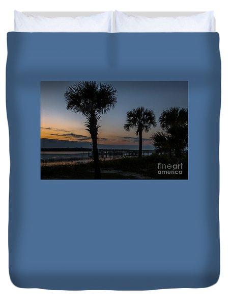 Palmetto Sky Duvet Cover