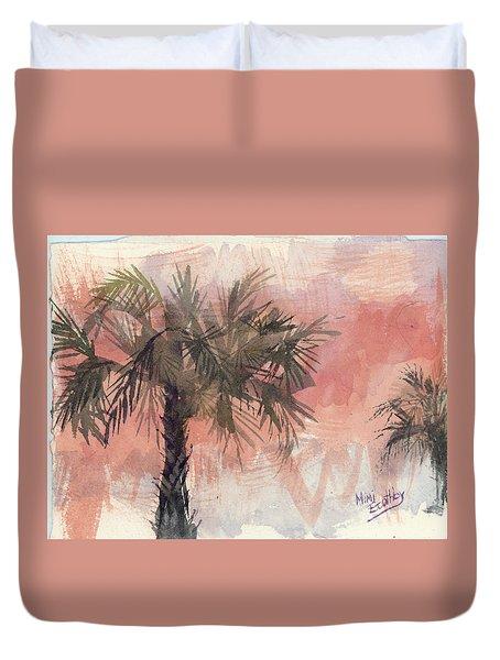 Palmettos Duvet Cover