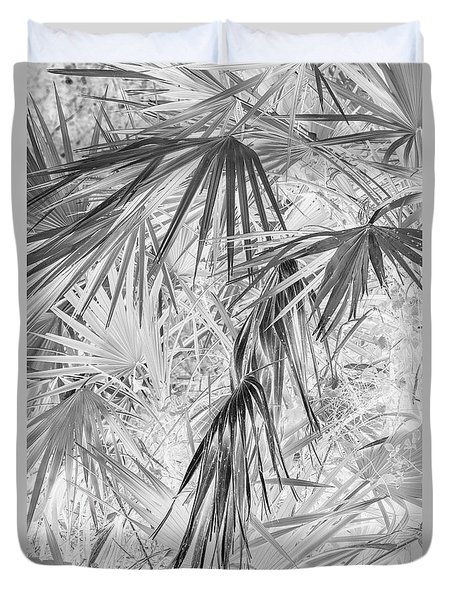 Palmettos Negatives Duvet Cover