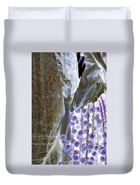 Backlit Blueberries Duvet Cover