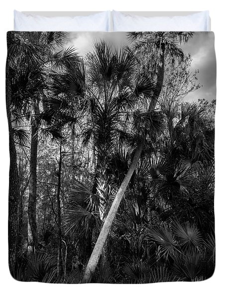 Palms And Palmettos Duvet Cover