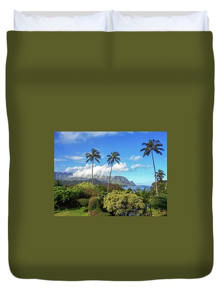 Palms At Hanalei Duvet Cover