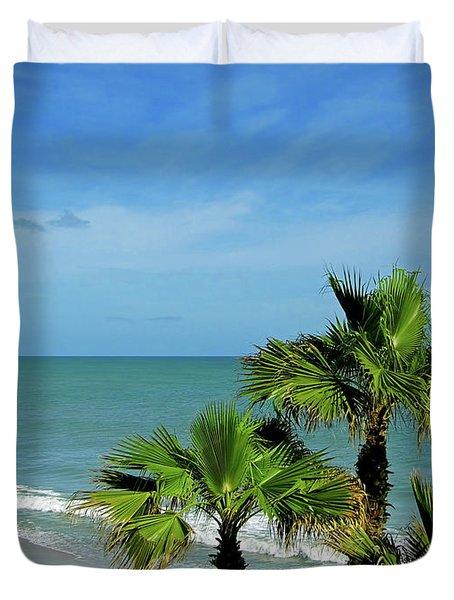 Palms At Vero Beach Duvet Cover