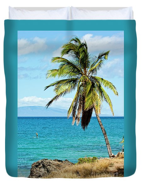 Duvet Cover featuring the photograph Palms On Hawaiian Beach 12 by Micah May