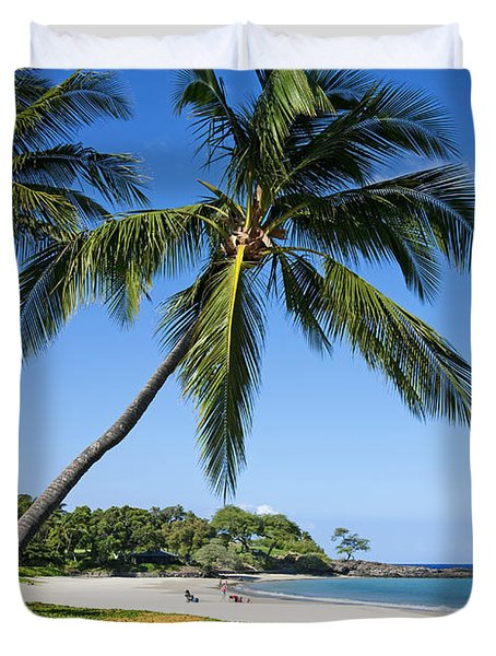 Palms Over Beach II Duvet Cover by Ron Dahlquist - Printscapes