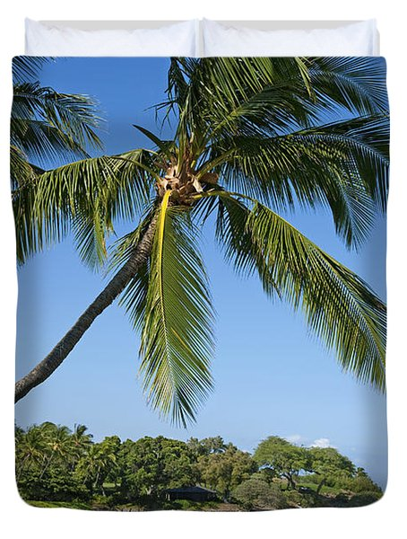 Palms Over Beach Duvet Cover by Ron Dahlquist - Printscapes