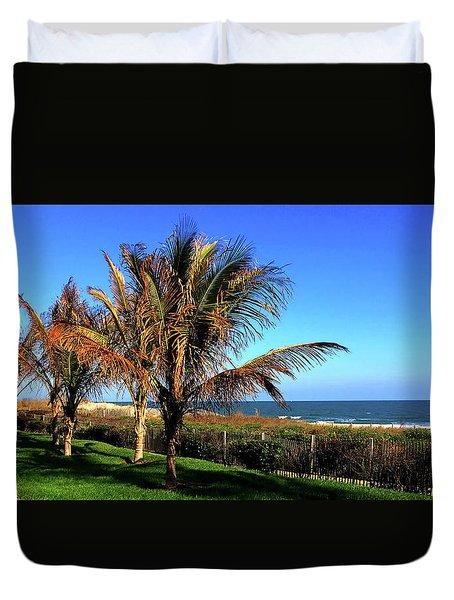 Palms Trees On Md Eastern Shore Duvet Cover