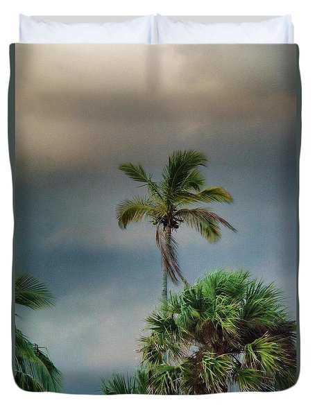Duvet Cover featuring the photograph Stormy Skies In Florida by John Black