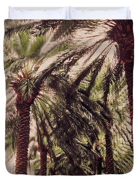Palmtree Duvet Cover by Jeanette Korab