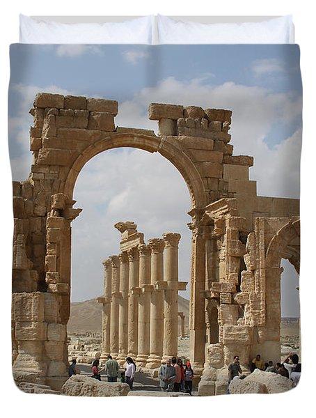 Palmyra Before...triumphal Arch Duvet Cover
