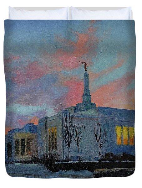 Palmyra Temple At Sunset Duvet Cover