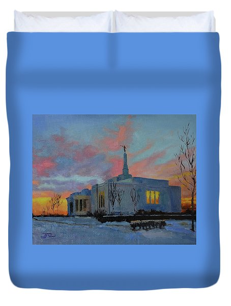 Palmyra Temple At Sunset Duvet Cover