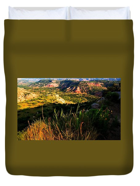 Duvet Cover featuring the photograph Palo Duro Canyon Amarillo Texas by Bob Pardue