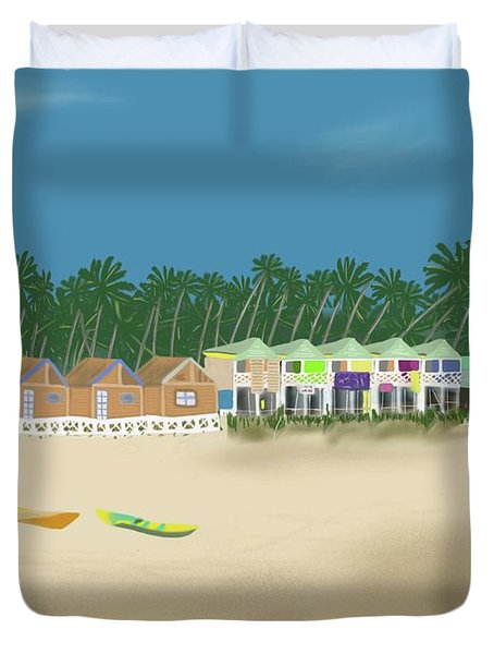 Palolem Beach Goa Duvet Cover