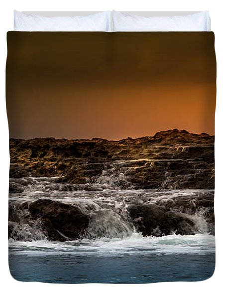 Palos Verdes Coast Duvet Cover