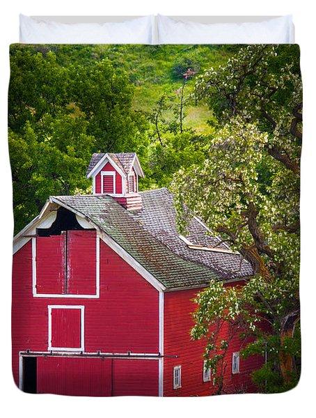 Palouse Barn Number 9 Duvet Cover by Inge Johnsson