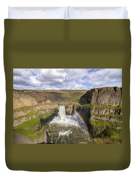 Duvet Cover featuring the photograph Palouse Falls by Albert Seger