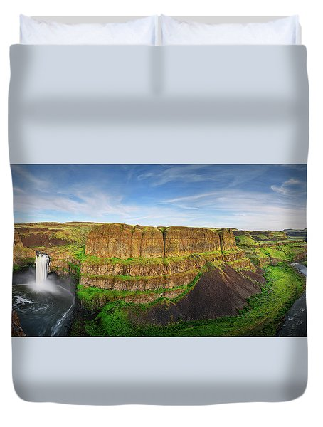 Palouse Falls Canyon Duvet Cover