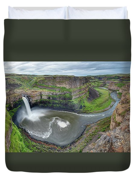 Palouse Falls In The Spring Duvet Cover