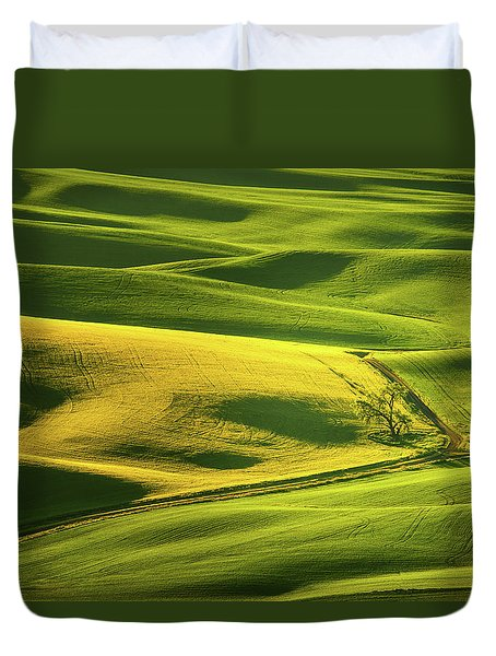 Palouse Shades Of Green Duvet Cover