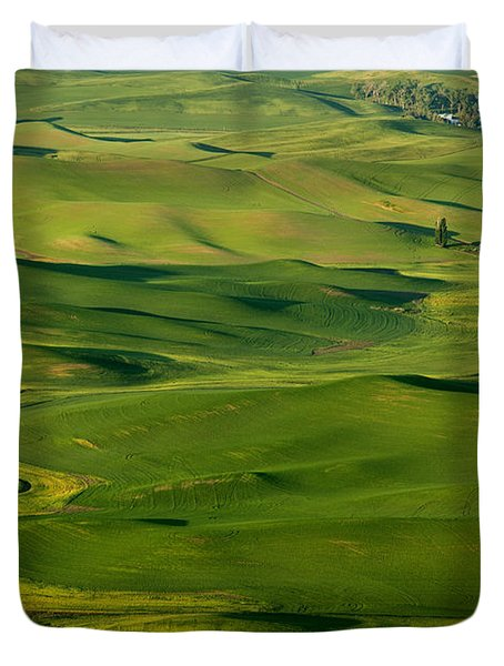 Palouse Spring Duvet Cover by Mike  Dawson